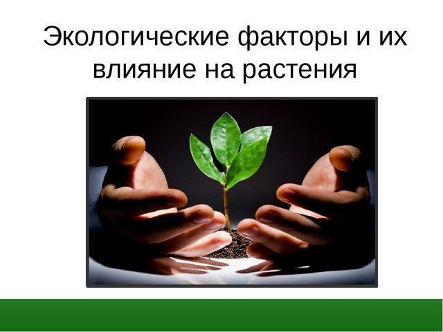 Экологические факторы и их влияние на растения