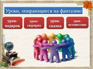 урок-путешествие урок-сюрприз урок-сказка Уроки, опирающиеся на фантазию урок