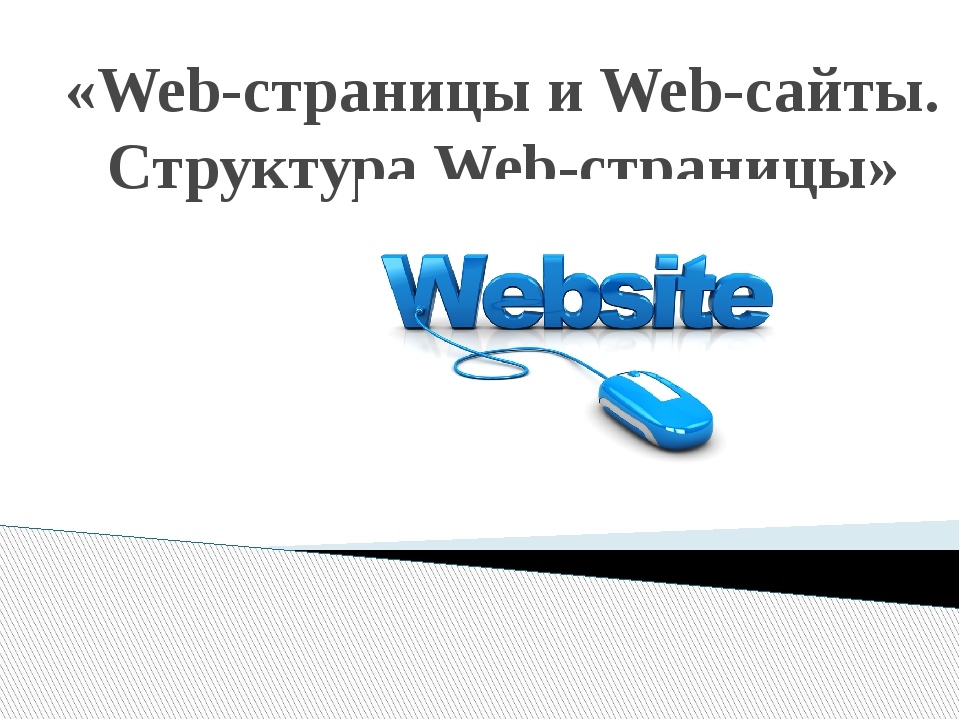 «Web-страницы и Web-сайты. Структура Web-страницы»
