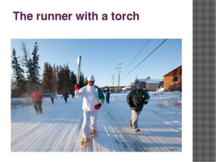 The runner with a torch