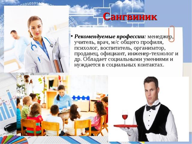Холерик Рекомендуемые профессии  менеджер, учитель, врач, м с общего  профиля. 533bb06b977