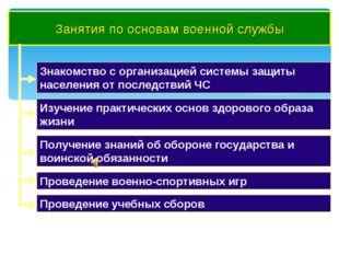 Занятия по основам военной службы Знакомство с организацией системы защиты на