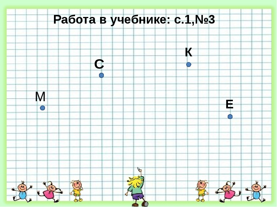 Работа в учебнике: с.1,№3 М С К Е