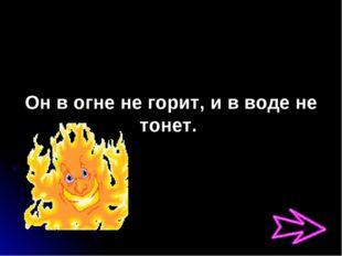 Он в огне не горит, и в воде не тонет.