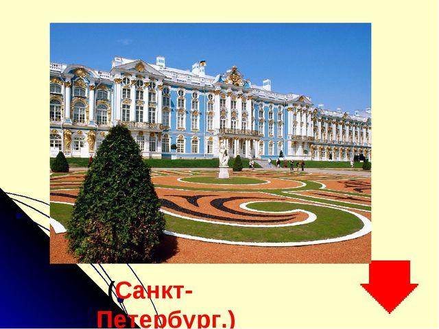 (Санкт-Петербург.)