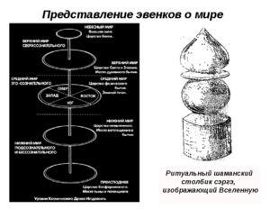 Представление эвенков о мире Ритуальный шаманский cтолбик сэргэ, изображающий