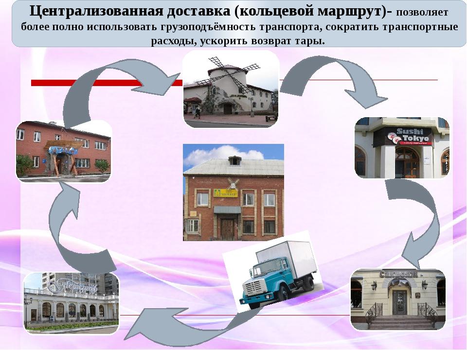 Централизованная доставка (кольцевой маршрут)- позволяет более полно использ...