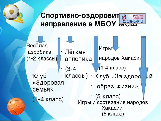 Спортивно-оздоровительное направление в МБОУ МСШ Весёлая аэробика (1-2 классы...