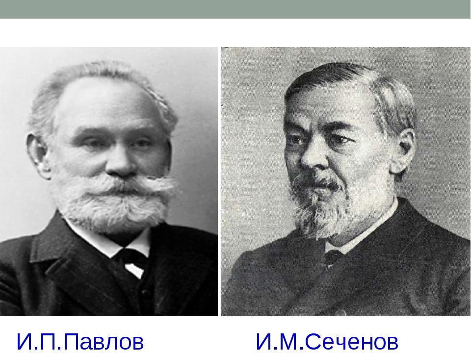И.П.Павлов И.М.Сеченов