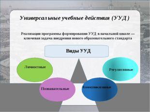 Универсальные учебные действия (УУД) Реализация программы формирования УУД в