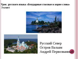 Урок русского языка «Безударные гласные в корне слова» 3 класс Русский Север