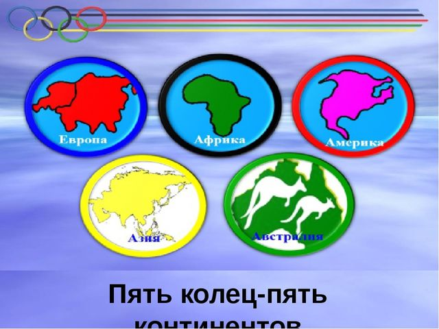 Пять континентов Пять колец-пять континентов