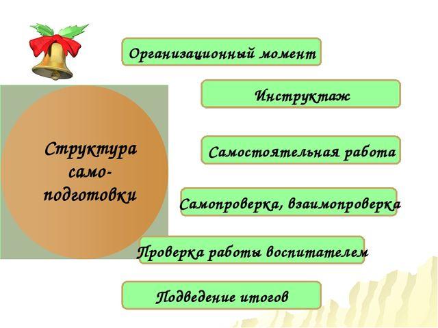 Структура само-подготовки Инструктаж Самостоятельная работа Организационный м...