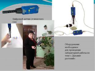 Цифровой датчик углекислого газа Оборудование необходимое для проведения лаб