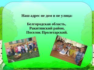 Наш адрес не дом и не улица: Белгородская область, Ракитянский район, Поселок