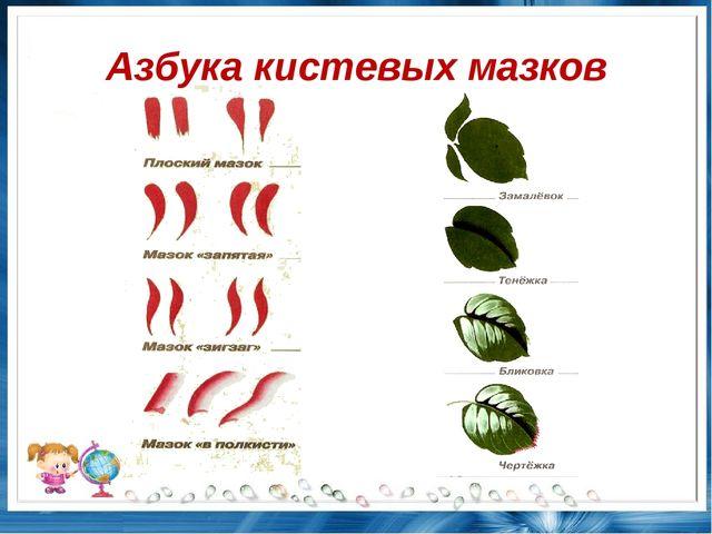 Азбука кистевых мазков