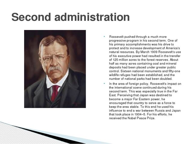 Roosevelt pushed through a much more progressive program in his second term....