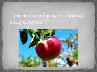 Почему свежий разрез яблока на воздухе буреет?