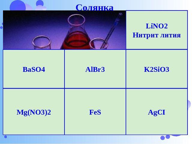 Нижегородский Кремль AlBr3 K2SiO3 BaSO4 AgCI Mg(NO3)2 FeS LiNO2 Нитрит лития...