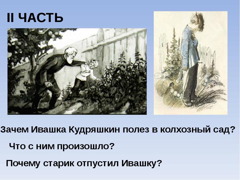 II ЧАСТЬ Зачем Ивашка Кудряшкин полез в колхозный сад? Что с ним произошло? П...