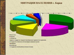 МИГРАЦИЯ НАСЕЛЕНИЯ с. Борки
