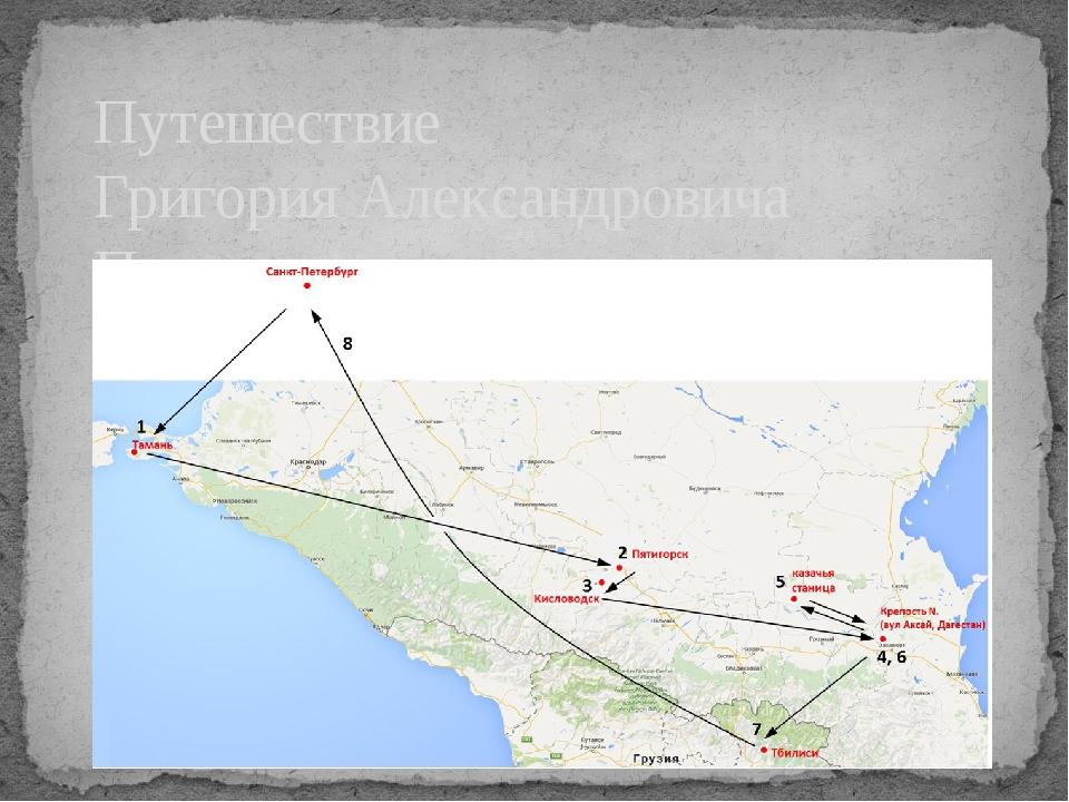 Путешествие Григория Александровича Печорина