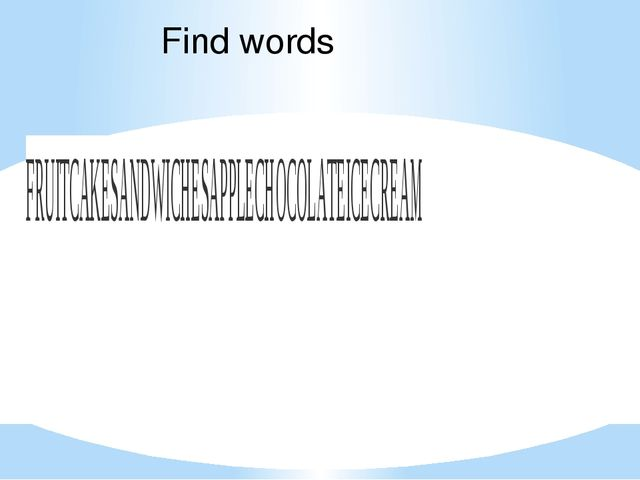 Find words