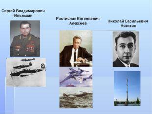 Николай Васильевич Никитин Ростислав Евгеньевич Алексеев Сергей Владимирович