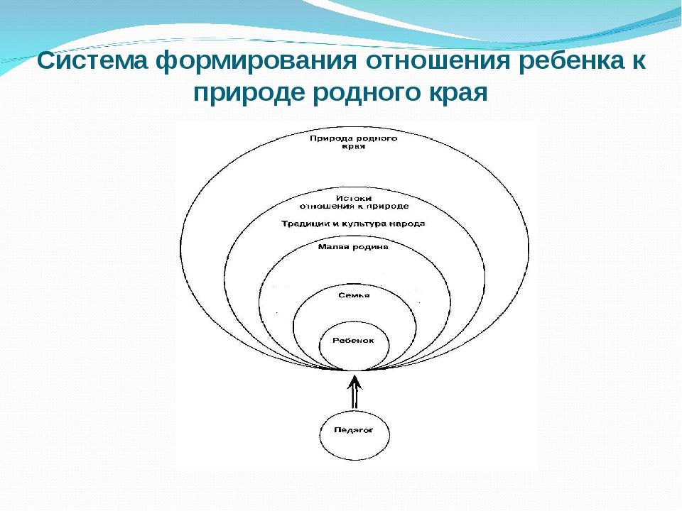 Система формирования отношения ребенка к природе родного края