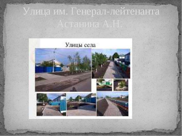 Улица им. Генерал-лейтенанта Астанина А.Н.