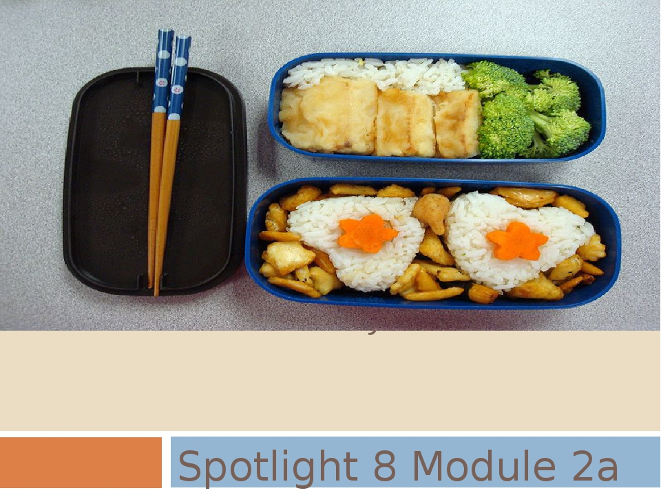 OBENTO - a tasty tradition! Spotlight 8 Module 2a