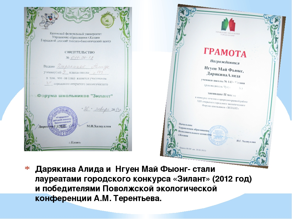 Дарякина Алида и Нгуен Май Фыонг- стали лауреатами городского конкурса «Зилан...