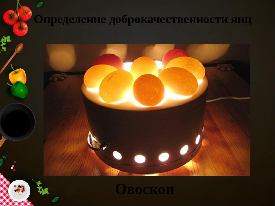 Определение доброкачественности яиц Овоскоп