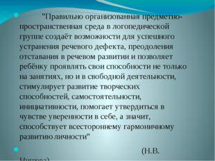 """""""Правильно организованная предметно-пространственная среда в логопедической"""