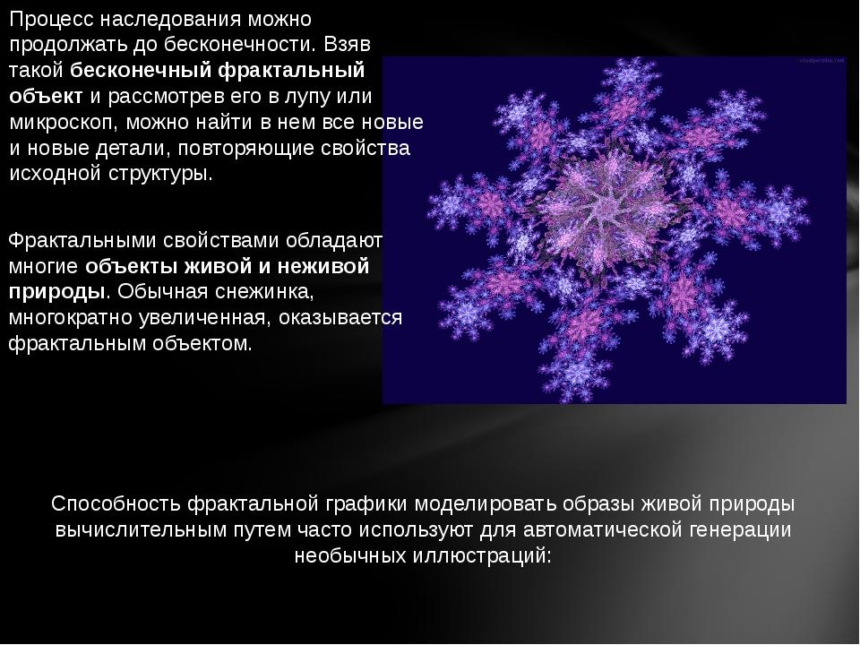 Способность фрактальной графики моделировать образы живой природы вычислитель...