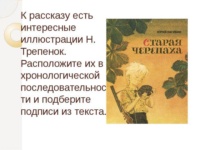 К рассказу есть интересные иллюстрации Н. Трепенок. Расположите их в хронолог...