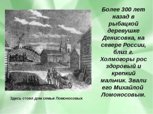 Более 300 лет назад в рыбацкой деревушке Денисовка, на севере России, близ г.