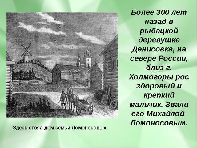 Более 300 лет назад в рыбацкой деревушке Денисовка, на севере России, близ г....
