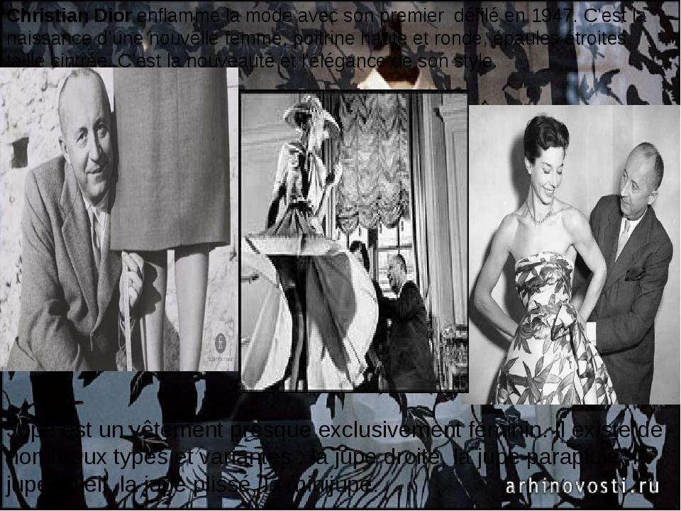 Christian Diorenflamme la mode avec son premier défilé en 1947. C'est l...