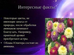 Интересные факты: • Некоторые цветы, не имеющие запаха от природы, после обра