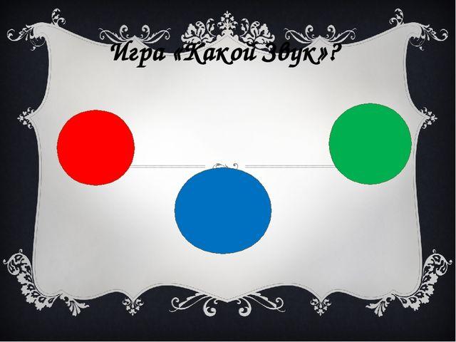 Игра «Какой Звук»?