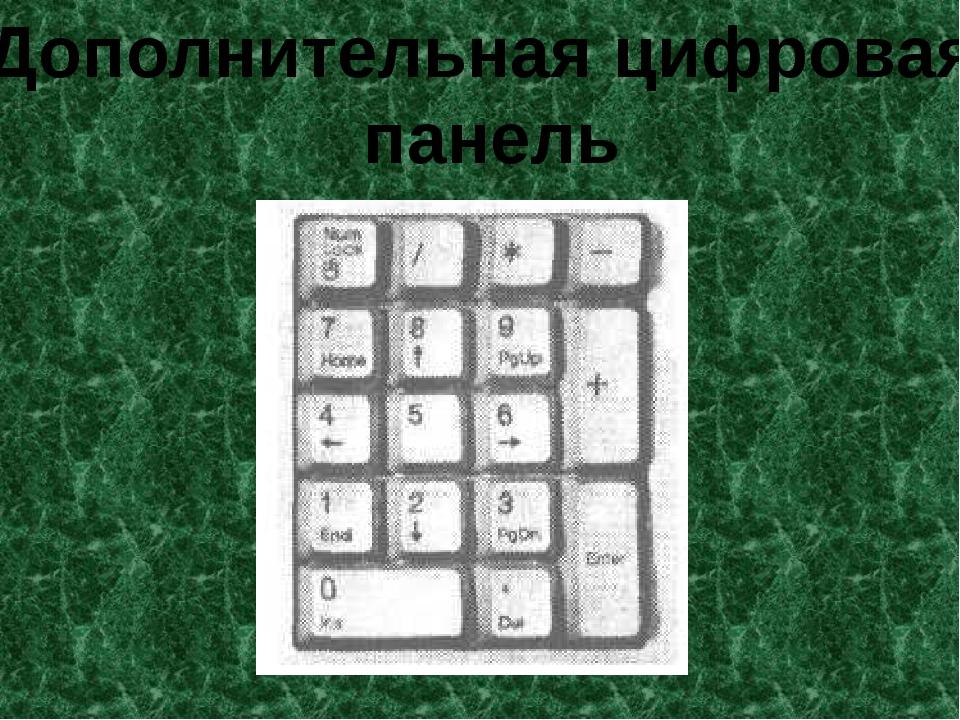 Дополнительная цифровая панель