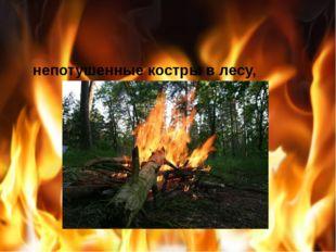 непотушенные костры в лесу,