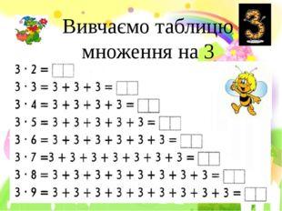 Вивчаємо таблицю множення на 3