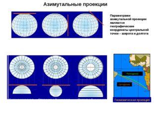 Азимутальная картографическая проекция - картографическая проекция, в которой