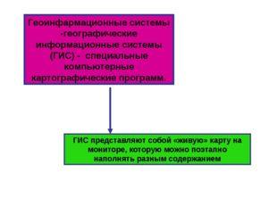 Геоинфармационные системы -географические информационные системы (ГИС) - спец