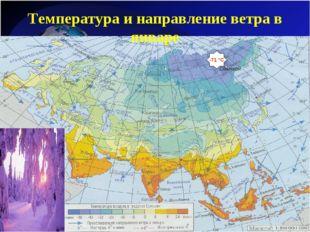 Температура и направление ветра в январе -71 °С Оймякон