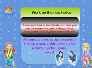 Work on the new lexics: