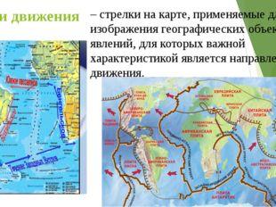Линии движения – стрелки на карте, применяемые для изображения географических