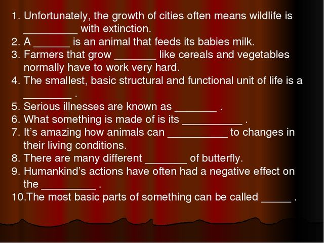 Unfortunately, the growth of cities often means wildlife is _________ with ex...